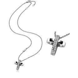 Buy Breil Ladies Necklace Charming Cross TJ1460