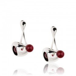 Breil Ladies Earrings Red TJ1862