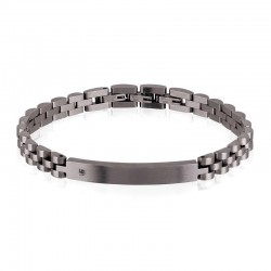 Buy Breil Men's Bracelet Black Diamond TJ2400