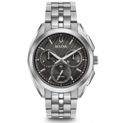 Buy Bulova Men's Watch Progressive Dress Curv 96A186 Quartz Chronograph