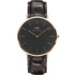 Buy Daniel Wellington Men's Watch Classic Black York 40MM DW00100128