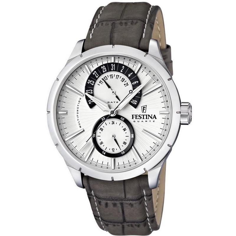542610d8eaf Festina Men s Watch Retro F16573 2 Quartz Multifunction - New ...