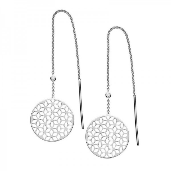 Buy Fossil Ladies Earrings Sterling Silver JFS00460040