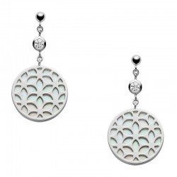 Fossil Ladies Earrings Sterling Silver JFS00461040