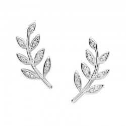 Fossil Ladies Earrings Sterling Silver JFS00483040
