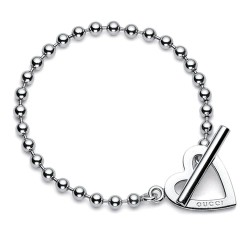 Gucci Ladies Bracelet Toggle Heart YBA181447001020
