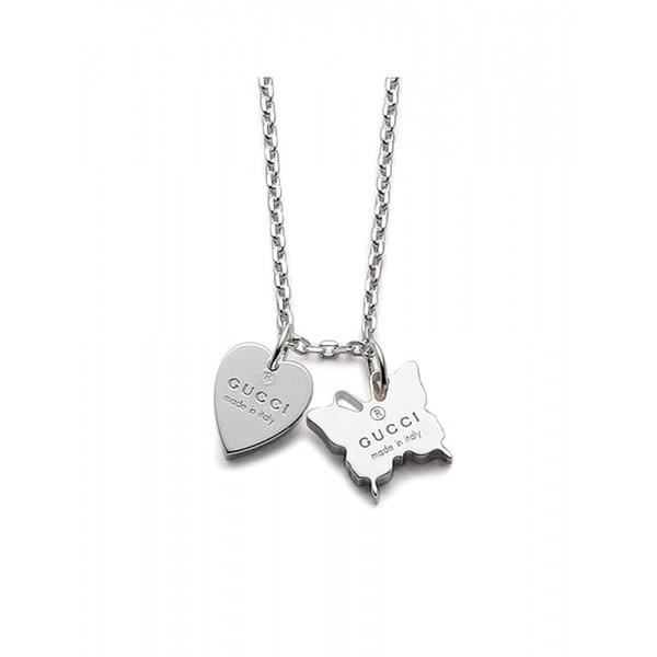 Buy Gucci Ladies Necklace Trademark YBB22398300100U
