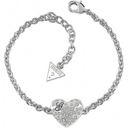 Buy Guess Ladies Bracelet Glossy Hearts UBB51492