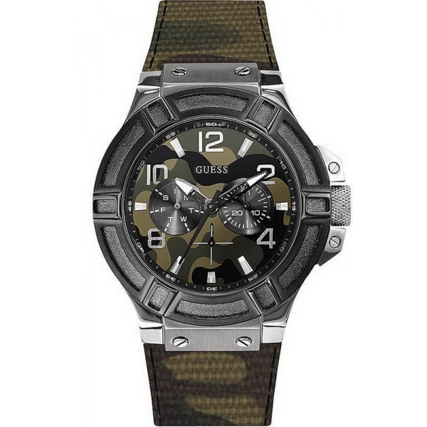 Buy Guess Men's Watch Rigor Multifunction Camouflage W0407G1