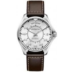 Hamilton Men's Watch Khaki Aviation Pilot Day Date Auto H64615555