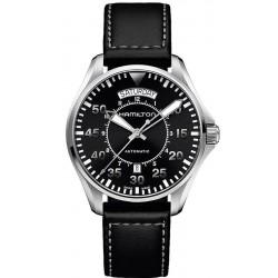 Hamilton Men's Watch Khaki Aviation Pilot Day Date Auto H64615735