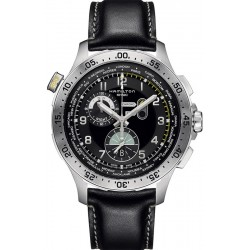 Hamilton Men's Watch Khaki Aviation Worldtimer Chrono Quartz H76714735