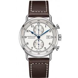Hamilton Men's Watch Khaki Navy Pioneer Auto Chrono H77706553