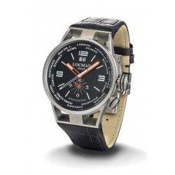 Buy Locman Men's Watch Montecristo World Dual Time Quartz 0508A01S-00BKWHPK