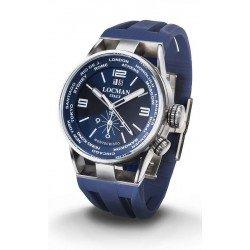 Buy Locman Men's Watch Montecristo World Dual Time Quartz 0508A02S-00BLWHSB