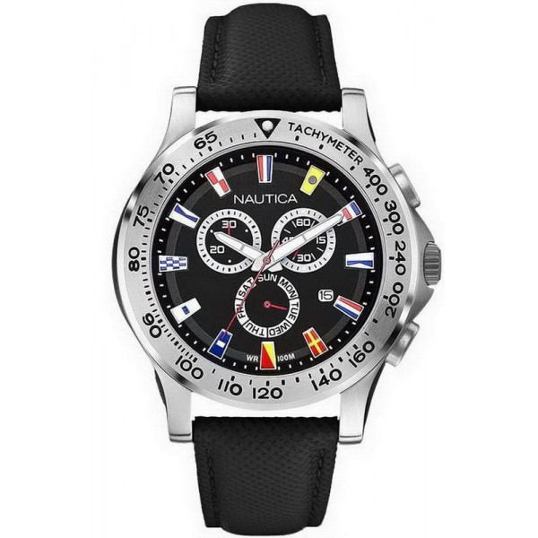 Buy Nautica Men's Watch NST 600 Flag Chronograph A19595G