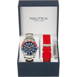 Nautica Men's Watch NST 07 Box Set Multifunction NAI16500G