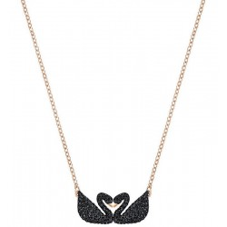Swarovski Ladies Necklace Iconic Swan Double 5296468