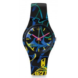 Swatch Unisex Watch Gent Nightclub GB318