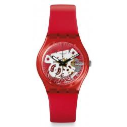 Buy Swatch Unisex Watch Gent Rosso Bianco GR178