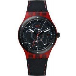 Buy Swatch Unisex Watch Sistem 51 Sistem Red SUTR400 Automatic