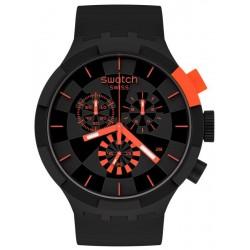Swatch Watch Big Bold Chrono Checkpoint Red SB02B402