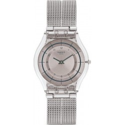 Swatch Ladies Watch Skin Classic Sky Net SFE109M