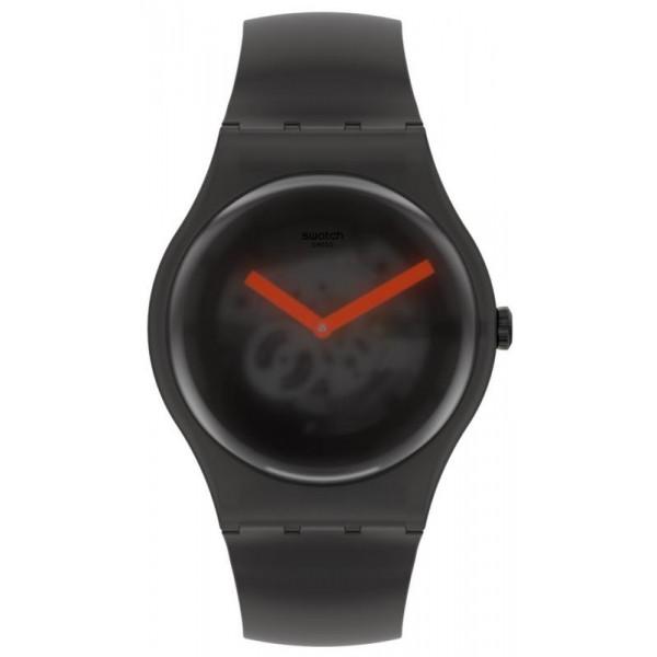 Buy Swatch Unisex Watch New Gent Black Blur SUOB183