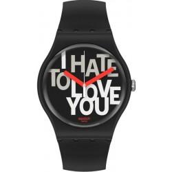 Swatch Unisex Watch New Gent Hate 2 Love SUOB185