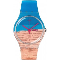 Swatch Unisex Watch New Gent Blue Pine SUOK706
