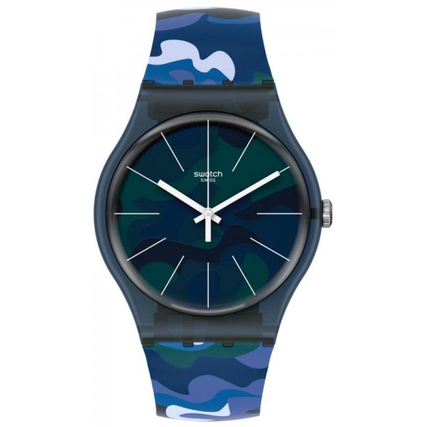 Buy Swatch Unisex Watch New Gent Camouclouds SUON140