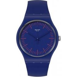 Swatch Unisex Watch New Gent Bluenred SUON146