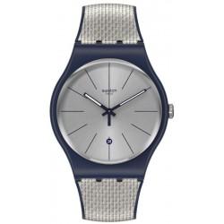 Swatch Unisex Watch New Gent Grey Cord SUON402