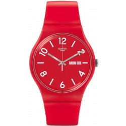 Swatch Unisex Watch New Gent Backup Red SUOR705