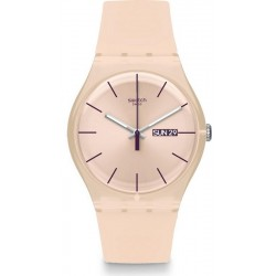 Swatch Ladies Watch New Gent Rose Rebel SUOT700