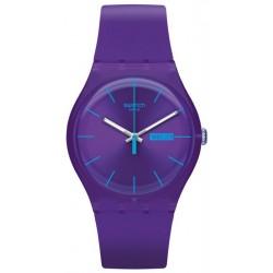Swatch Unisex Watch New Gent Purple Rebel SUOV702