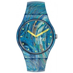 Swatch Watch MoMA The Starry Night by Vincent Van Gogh SUOZ335