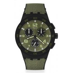 Swatch Men's Watch Chrono Plastic Dark Forest SUSB105