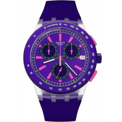 Swatch Unisex Watch Chrono Plastic Purp-Lol SUSK400