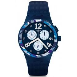 Buy Swatch Men's Watch Chrono Plastic Camoblu SUSN414