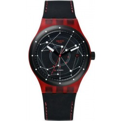 Buy Swatch Unisex Watch Sistem51 Sistem Red Automatic SUTR400