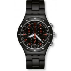 Buy Swatch Men's Watch Irony Chrono Black Coat YCB4019AG