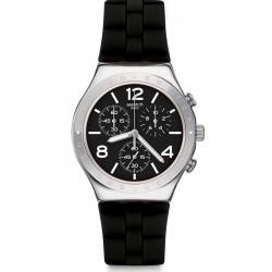 Buy Swatch Men's Watch Irony Chrono Noir De Bienne YCS116
