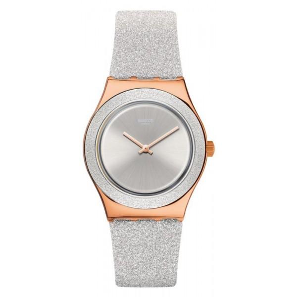Buy Swatch Ladies Watch Irony Medium Grey Sparkle YLG145