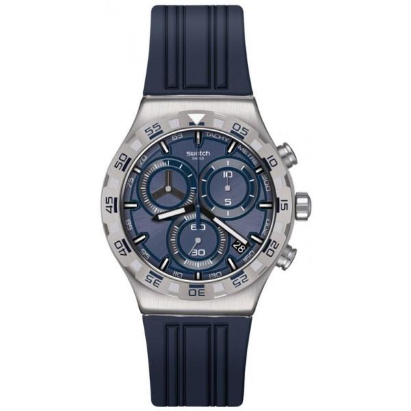 Buy Swatch Mens Watch Irony Chrono Teckno Blue YVS473