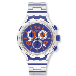Swatch Men's Watch Irony Xlite Chemical Blue YYS4011AG Chronograph